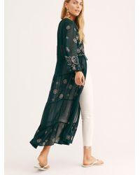 Free People - La Cienega Embroidered Kimono By Nfc - Lyst