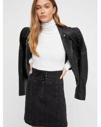 Free People - Modern Femme Corset Mini Skirt - Lyst