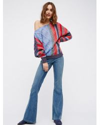 Free People - Penny Pull-on Flare Jeans - Lyst