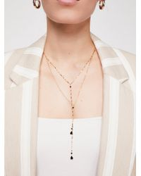 Free People - Winnie Raw Stone Delicate Bolo Necklace - Lyst