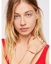 Free People - Gold Shell Bracelet - Lyst