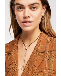 Free People - Sadie Stone Bolo Necklace - Lyst