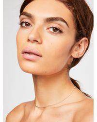 Free People - Delicate Everyday Rhinestone Necklace - Lyst