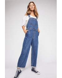 a3e222a9 Levi's Baggy Denim Overalls In Big And Smalls in Blue - Lyst