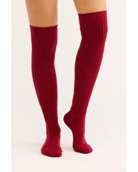 Free People - Lounge Ribbed Over The Knee Sock - Lyst