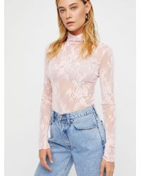 Free People - Sweet Secrets Polo Neck By Intimately - Lyst