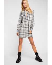 Free People - Yoko Plaid Tunic By Cp Shades - Lyst