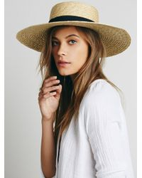 Free People - Spencer Wide Brim Boater - Lyst