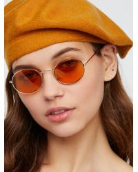 Free People - Got A Crush Oval Sunnies - Lyst