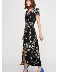 Free People - Gorgeous Jess Wrap Maxi Dress - Lyst