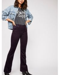 Free People - Wide Wale Cord Trousers - Lyst