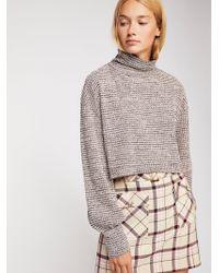 Free People - Bk Sweater In Purple - Lyst