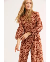 7197f9343b8 Free People - Xanthe Smock Jumpsuit By Saint Helena - Lyst