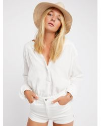 Free People - Doublecloth Solid Top - Lyst