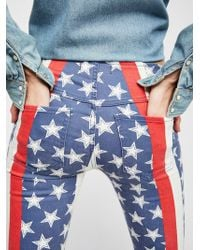 Free People - Penny Pull-on Stars & Stripes Flare Jeans - Lyst
