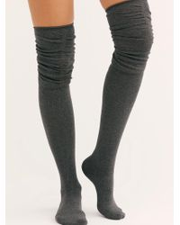 Free People - Charlie Ruched Over-the-knee Socks By Tavi Noir - Lyst