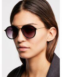 Free People - Rhodes Matte Aviator Sunglasses - Lyst