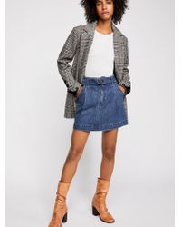 Free People - Jade Belted Skirt - Lyst