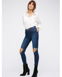 Free People - High-rise Busted Skinny Jeans - Lyst
