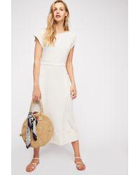 e0acde036f Free People The Isha Tube Midi Dress in White - Lyst