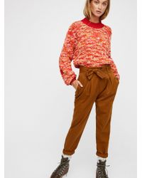 Free People - High Waisted '90s Peg Pant - Lyst