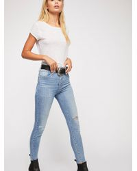 Free People - Levi's Mile High Exposed Fly Skinny Jeans - Lyst