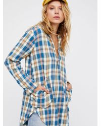 Free People | Ash Flannel Tunic | Lyst