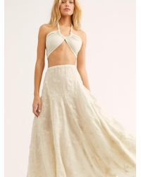 Free People - Lily Linen Jacquard Maxi Skirt By Cp Shades - Lyst