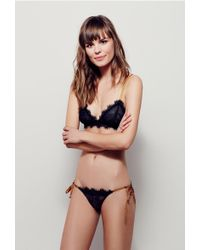 66bc93edb8bb2 Lyst - Free People Bedroom Eyes Bralette Bedroom Eyes Tie Bikini in ...