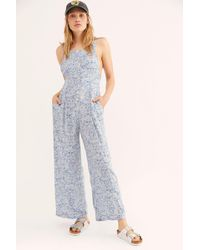 7be4d0180bc2 Lyst - Free People Beach Bum Jumpsuit in White