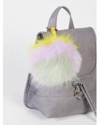 Free People - Xl Faux Fur Pompom Bag Charm - Lyst