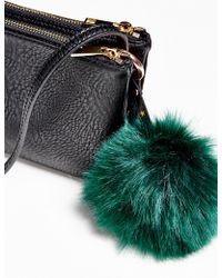 Free People - Faux Fur Pompom Bag Charm - Lyst