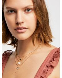 Free People - Sweetheart Layering Necklace - Lyst