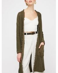 Free People - Wouldn't Knit Be Nice Cardi - Lyst