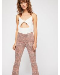 Free People - Frida Crop Flare Jeans - Lyst