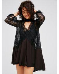 Free People - Secret Origins Pieced Lace Tunic - Lyst