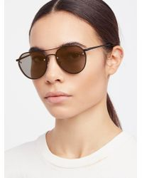 Free People - Living In Color Aviator Sunglasses - Lyst