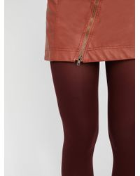 Free People - Leader Of The Pack Opaque Tights - Lyst