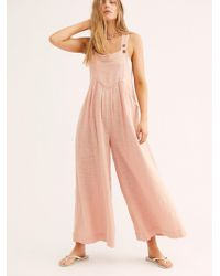 Free People - Sundrenched Overalls By Endless Summer - Lyst