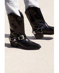 58a0f59f19e6 Sam Edelman Ridge Leather Boots in Black - Lyst