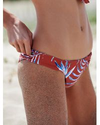 Free People - Shorebird Printed Bikini Bottoms - Lyst