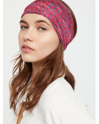 Free People - Printed Lace Wideband - Lyst