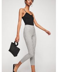 Free People - Belle Printed Skinny Pants - Lyst