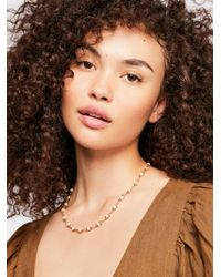 Free People - Glimmer Stone Necklace - Lyst