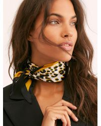 Free People - Leopard Print Kite Bandana - Lyst