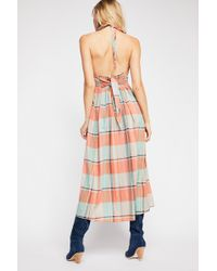 Free People - Donna Plaid Maxi Dress By Endless Summer - Lyst