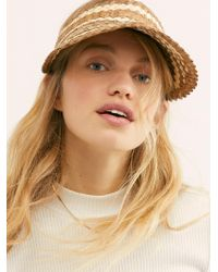 Free People - Island Hopper Two Tone Straw Visor By Beachgold - Lyst