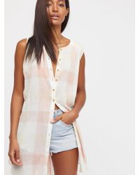 Free People - Sweet Picnic Date Buttondown - Lyst