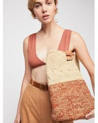 Free People - Montaigne Straw Tote - Lyst