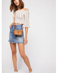 Free People - Smock Around Striped Top - Lyst